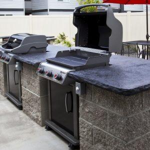 Community grills to enjoy