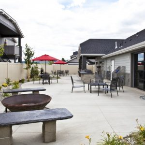 Outdoor gather space