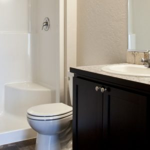 Bathroom in available unit