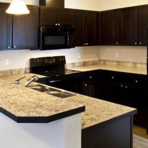 Kitchen in available unit